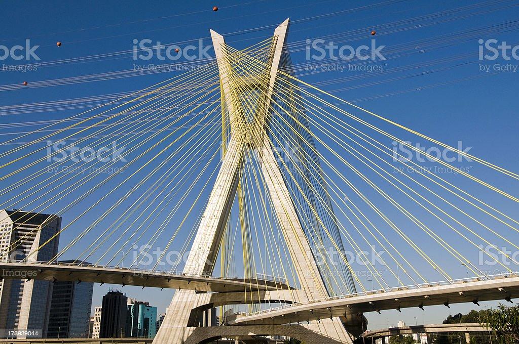 Cable-Stayed Bridge, Sao Paulo royalty-free stock photo