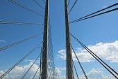 Cable-stayed construction of the Øresund Bridge, Scandinavia