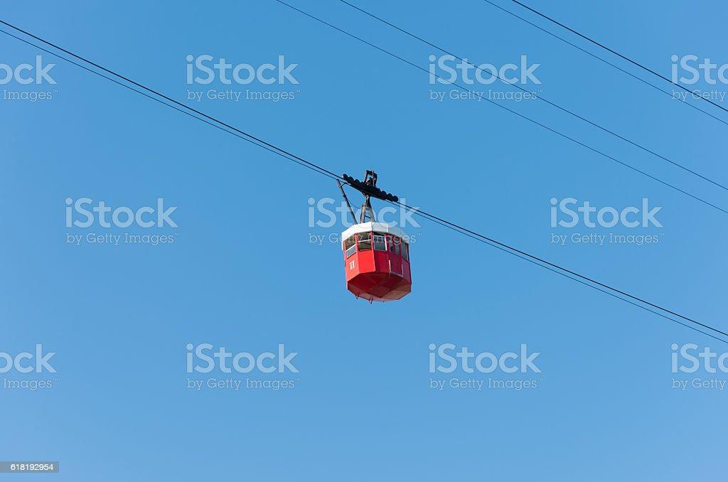 cableway Montjuic - barcelona stock photo