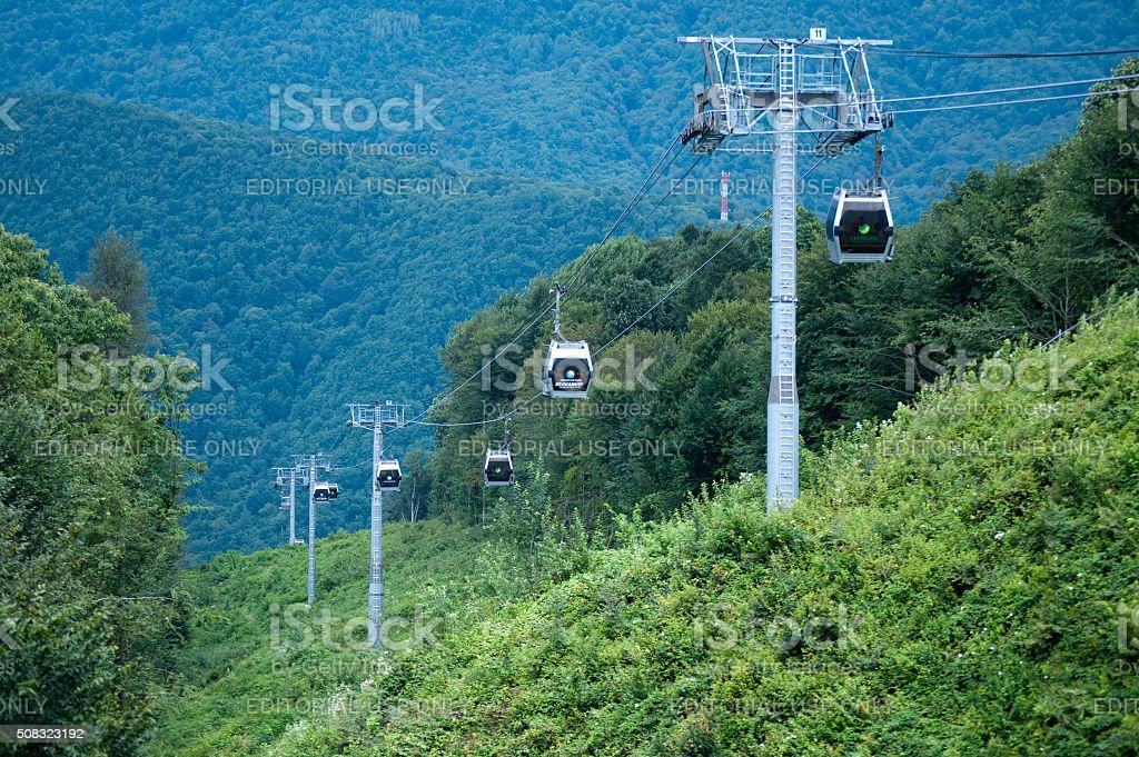 Cableway 'Mountain Carousel' stock photo
