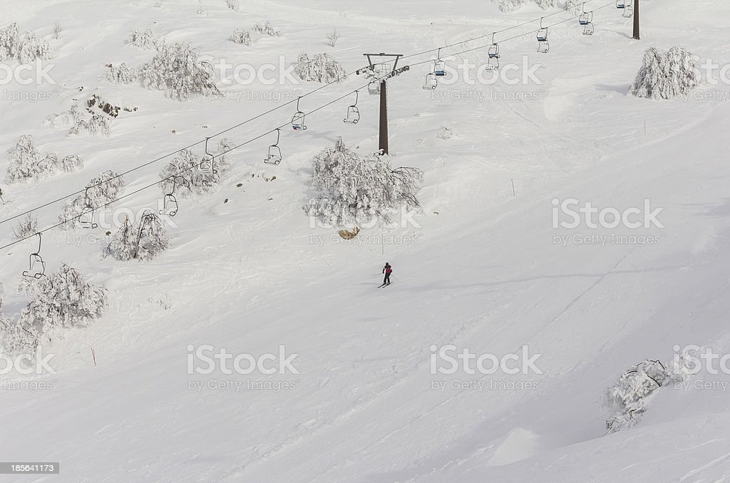 cableway on Mount Hermon royalty-free stock photo