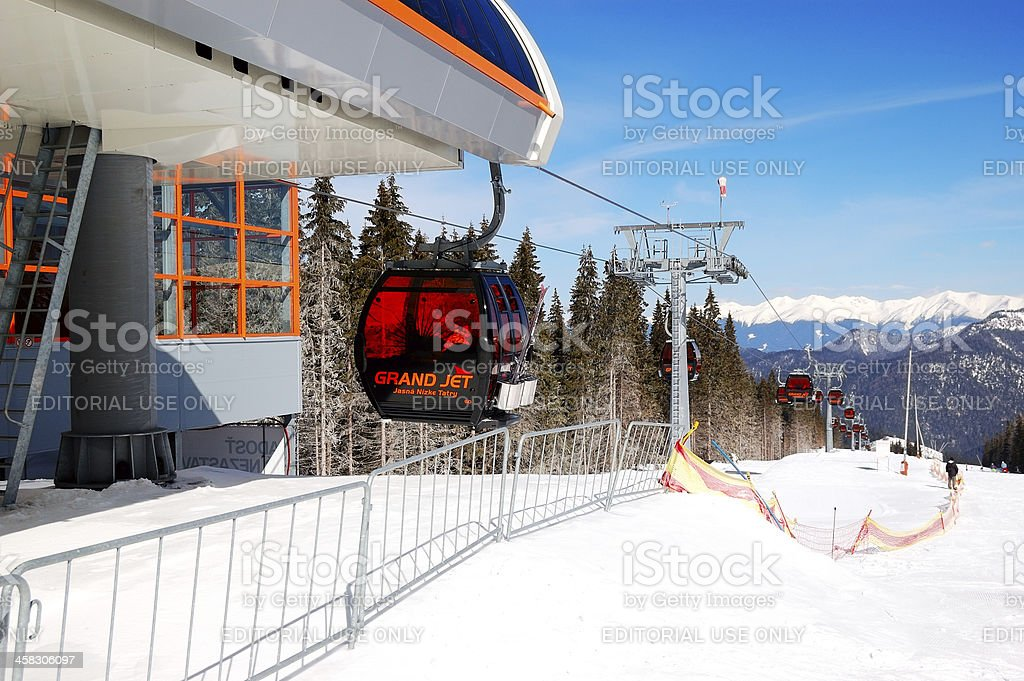 Cableway station in Jasna Low Tatras stock photo
