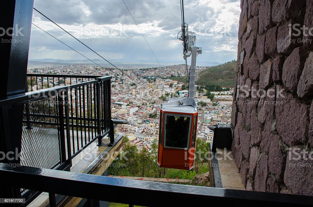 Cableway Zacatecas stock photo