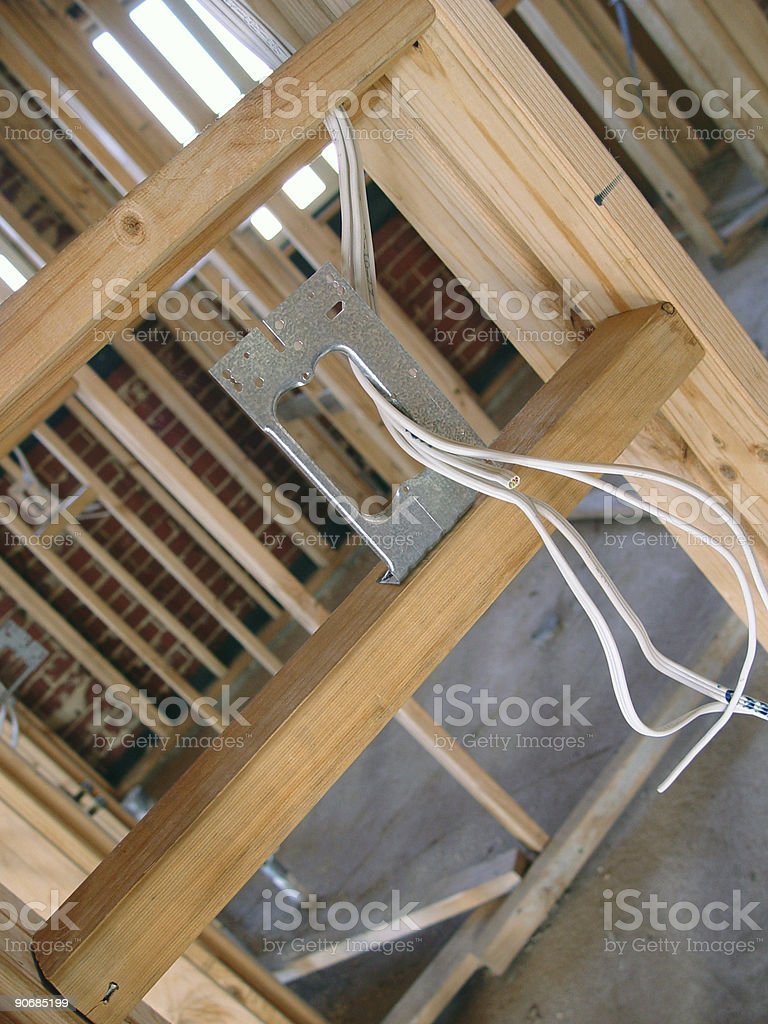Cabling plate royalty-free stock photo