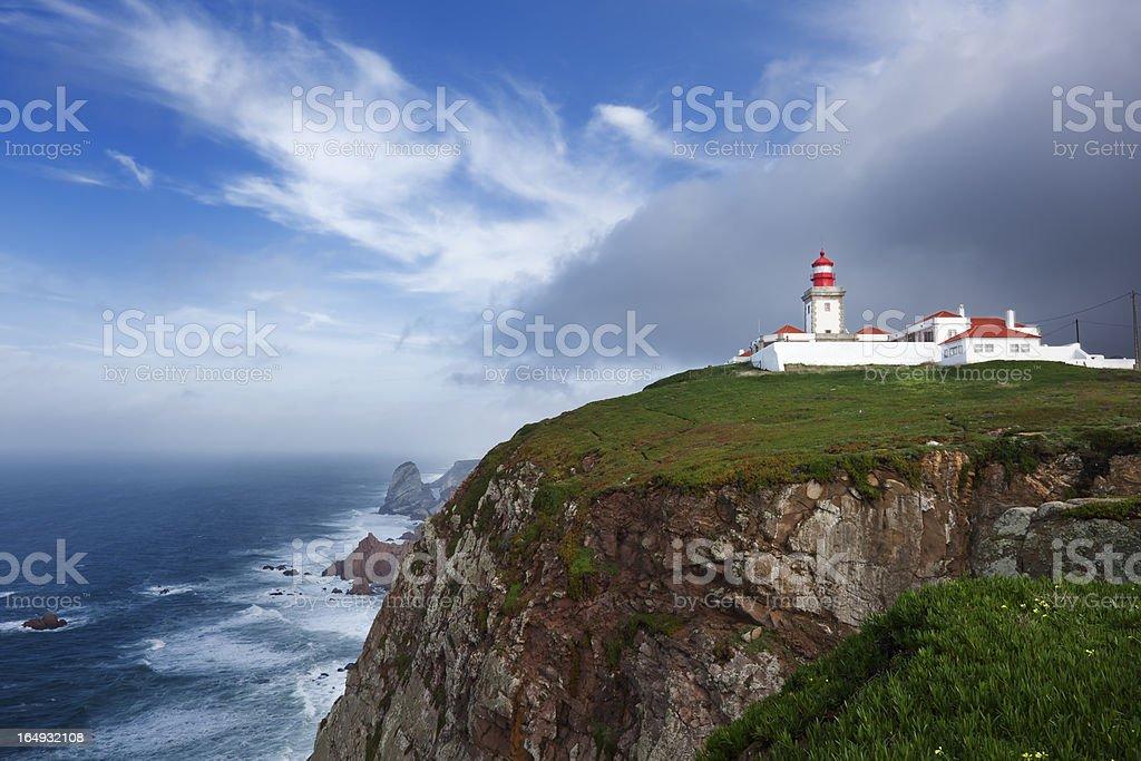 Cabo da Roca Lighthouse stock photo