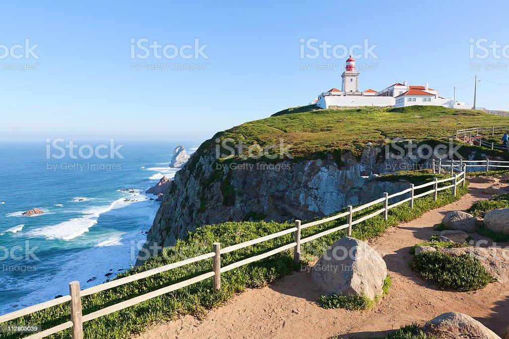 Cabo da Roca Lighthouse, Portugal royalty-free stock photo