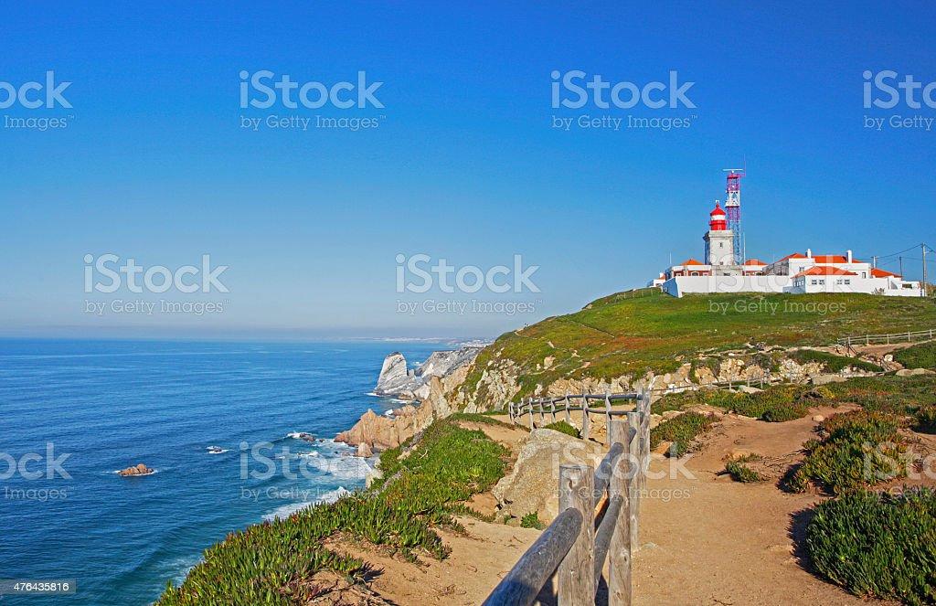 Cabo da Roca Lighthouse, Sintra coast, Portugal stock photo