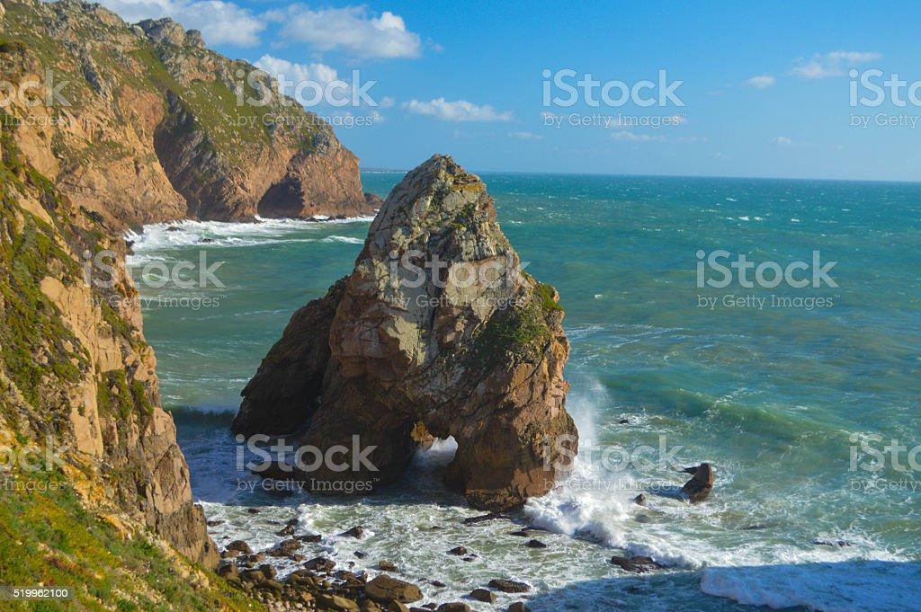 Cabo da Roca Portugal Coast stock photo