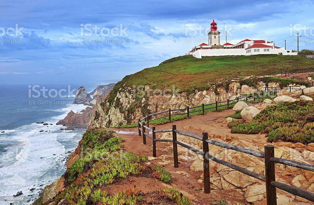 Cabo da Roca, Portugal stock photo