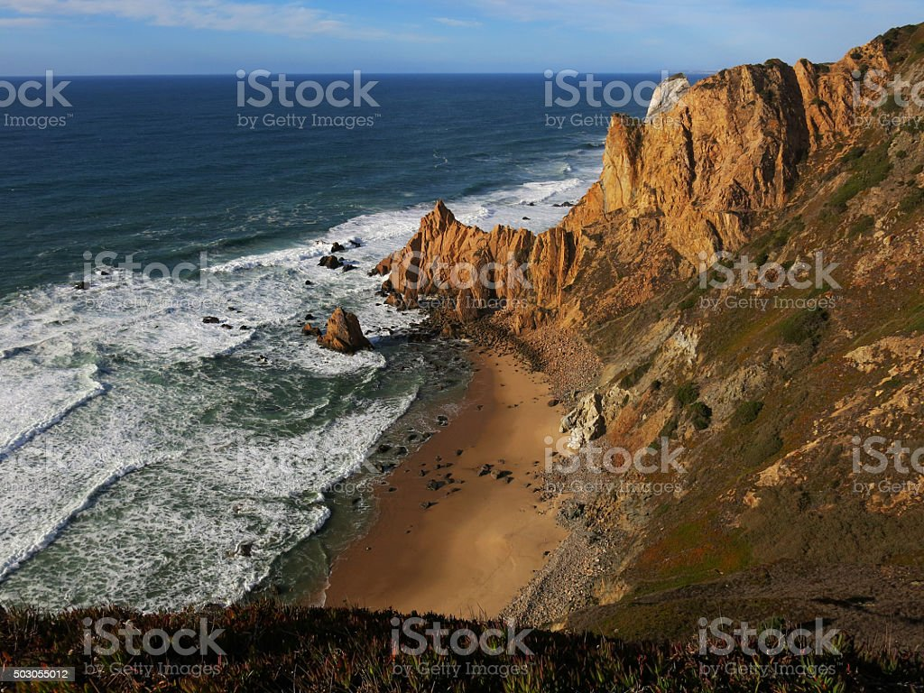 Cabo da Roca Portugal stock photo