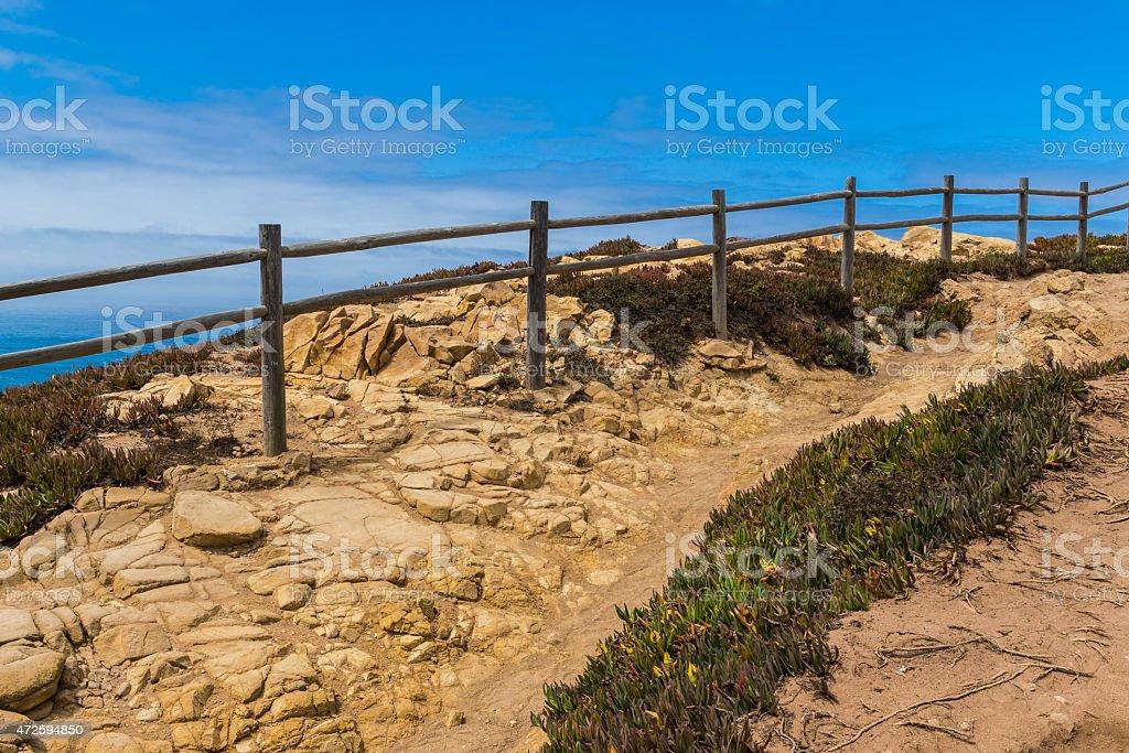 Cabo da roca scenery in Portugal stock photo