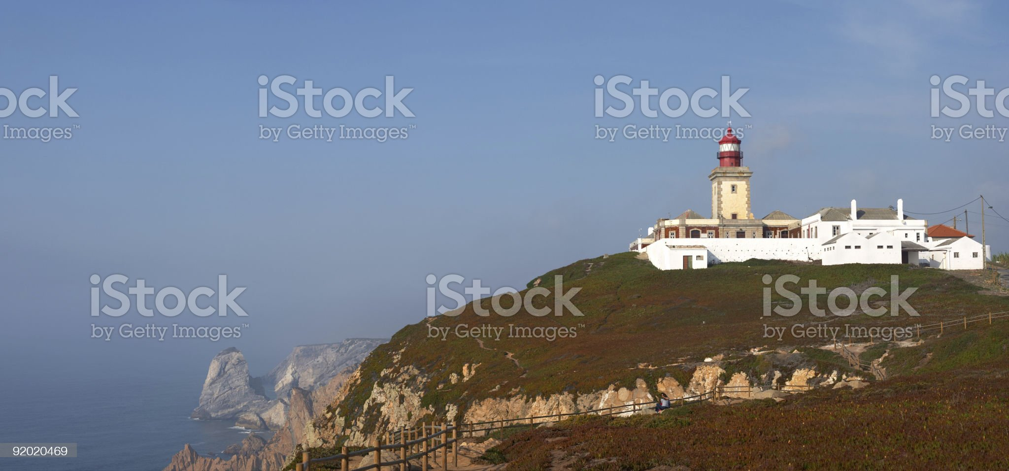 Cabo da Roca - west most point of Europe royalty-free stock photo