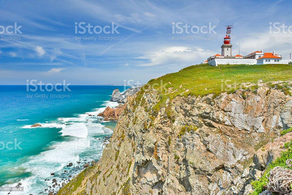 Cabo de Roca - Portugal stock photo