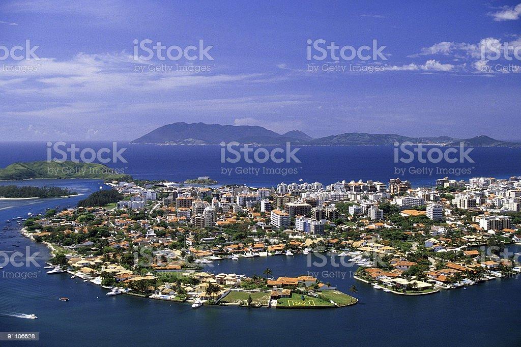 Cabo Frio city stock photo