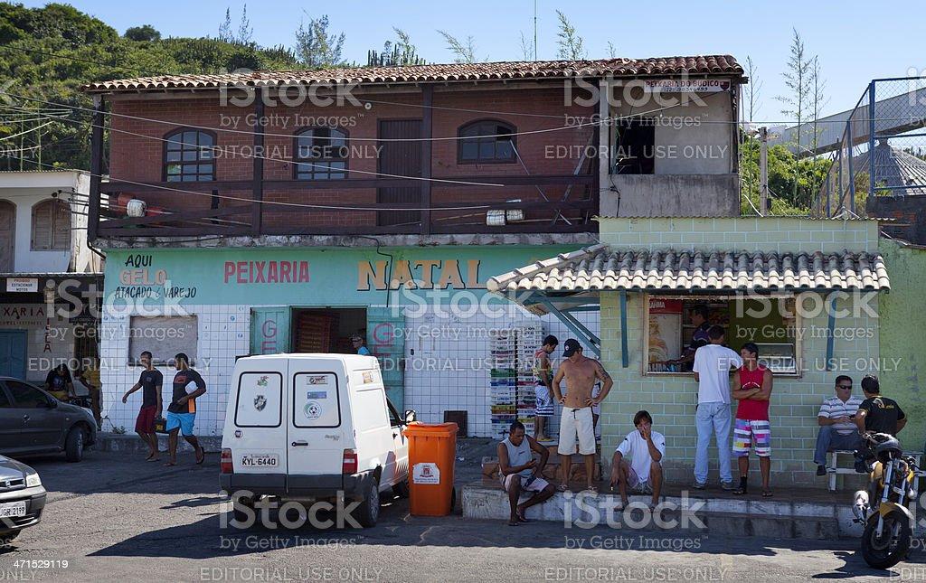 Cabo Frio harbor, Brazil stock photo