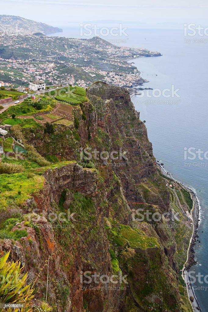 Cabo Girao sea cliff in Madeira, Portugal stock photo