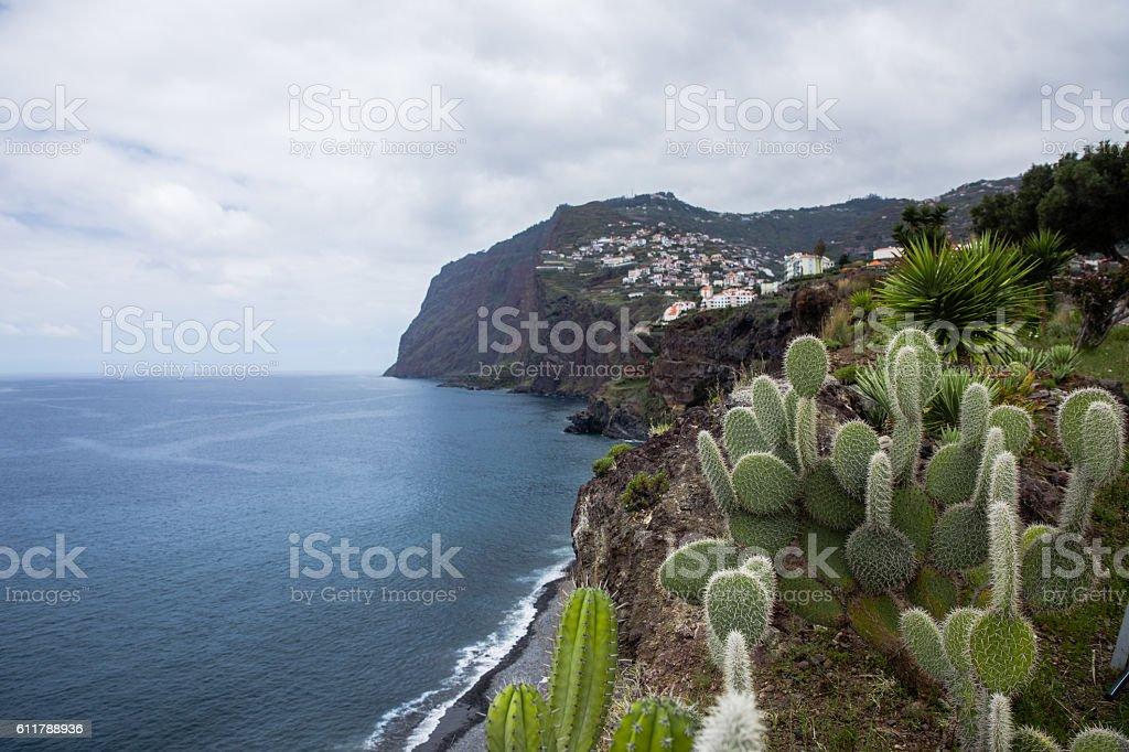 Cabo Girao sea cliff, Madeira, Portugal stock photo