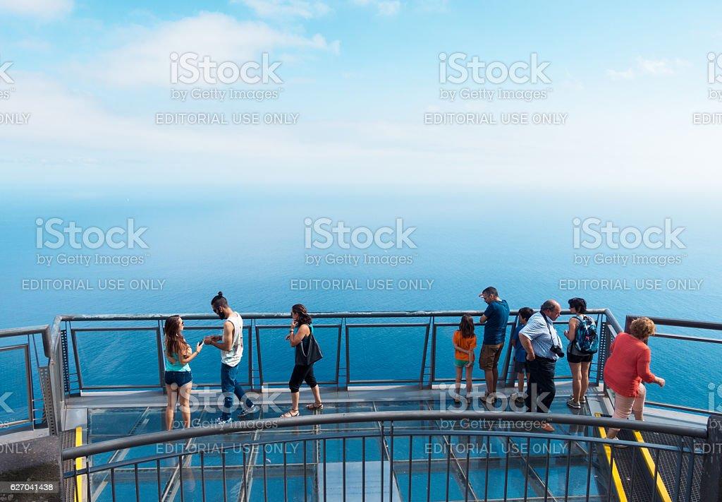 Cabo Girao Skywalk stock photo