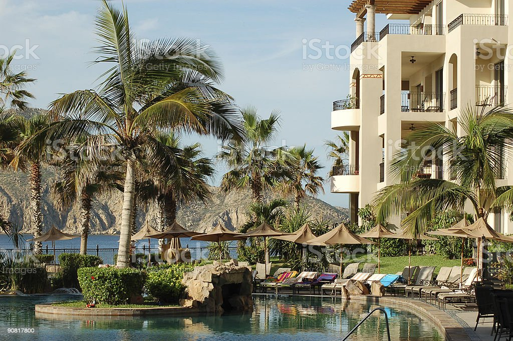 Cabo resort villas royalty-free stock photo