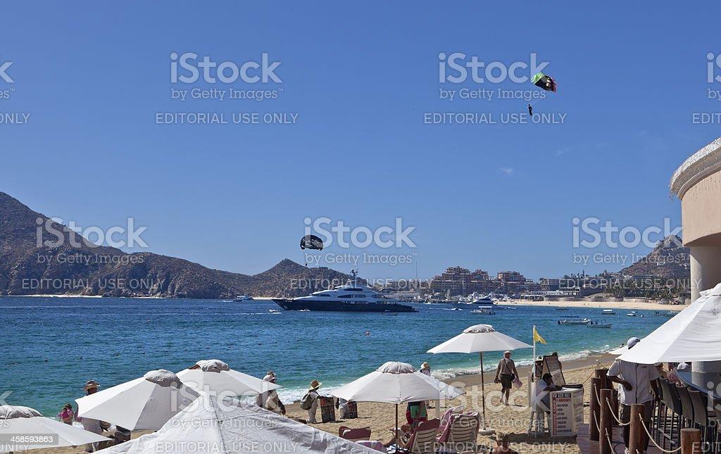 Cabo San Lucas Bay and Beach stock photo