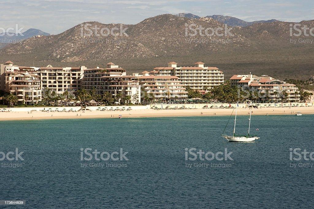 Cabo San Lucas Resorts, Baja Mexico, Vacation, Travel, Leisure, Ocean royalty-free stock photo