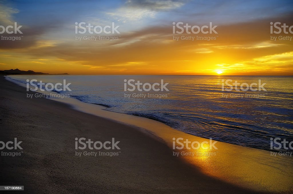 Cabo San Lucus Sunrise royalty-free stock photo