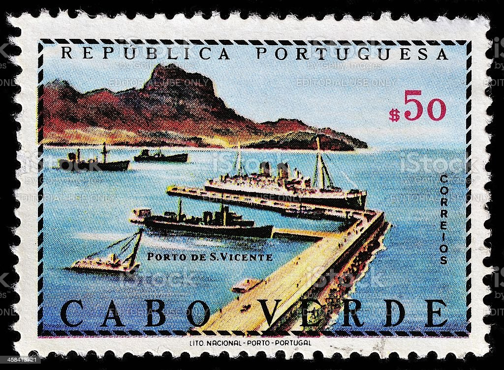 Cabo Verde Postage Stamp royalty-free stock photo