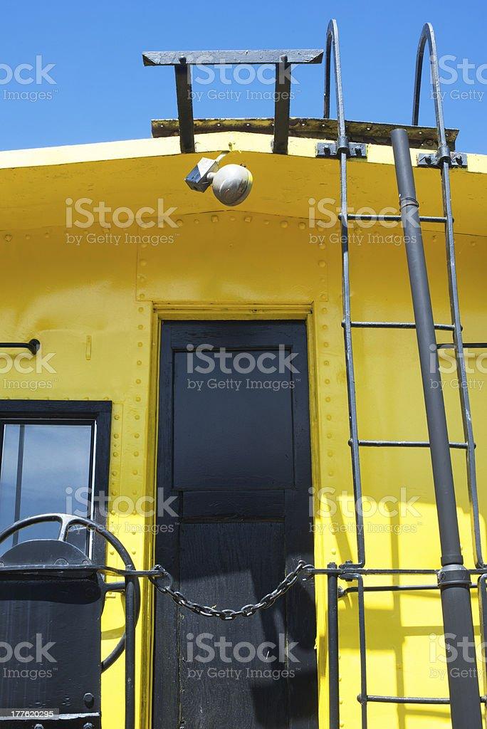 caboose door stock photo