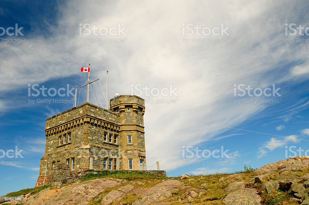 Cabot Tower on Signal Hill stock photo