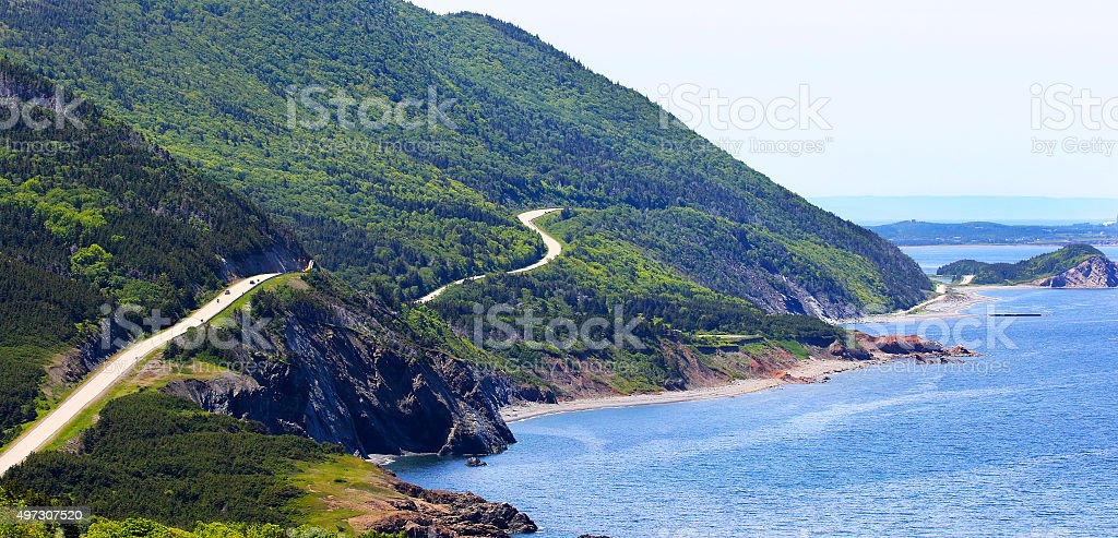 Cabot Trail, Cape Breton Highlands National Park stock photo