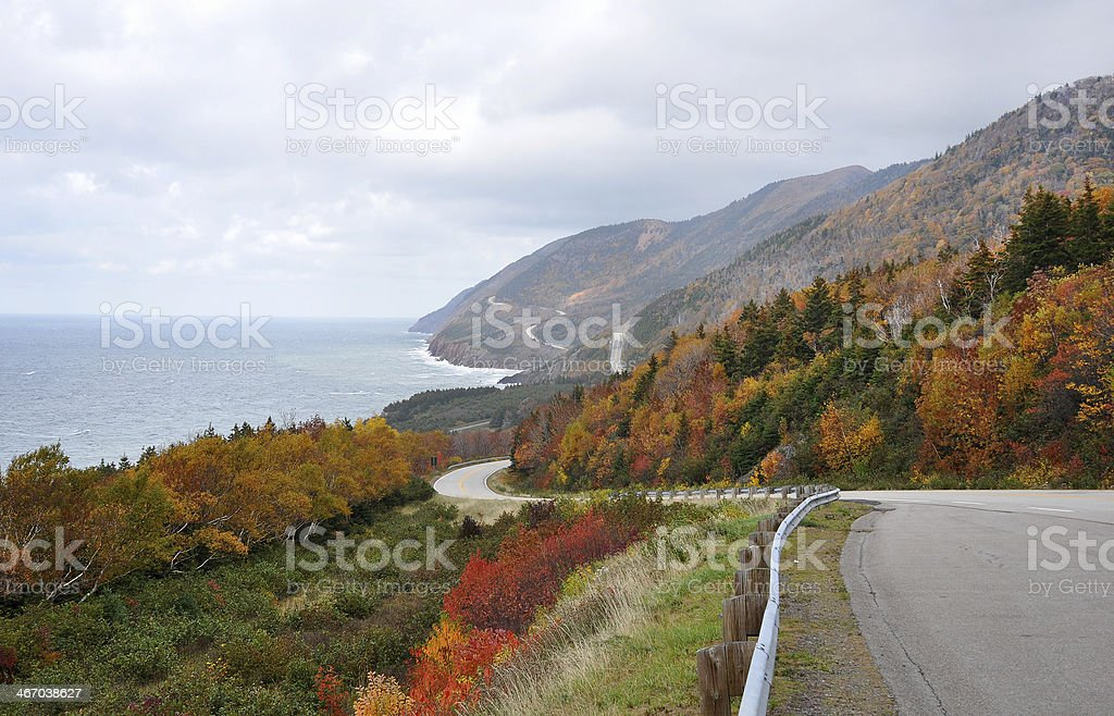 Cabot Trail, Cape Breton, Nova Scotia stock photo