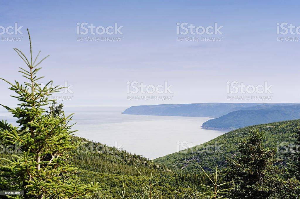 Cabot Trail landscape stock photo