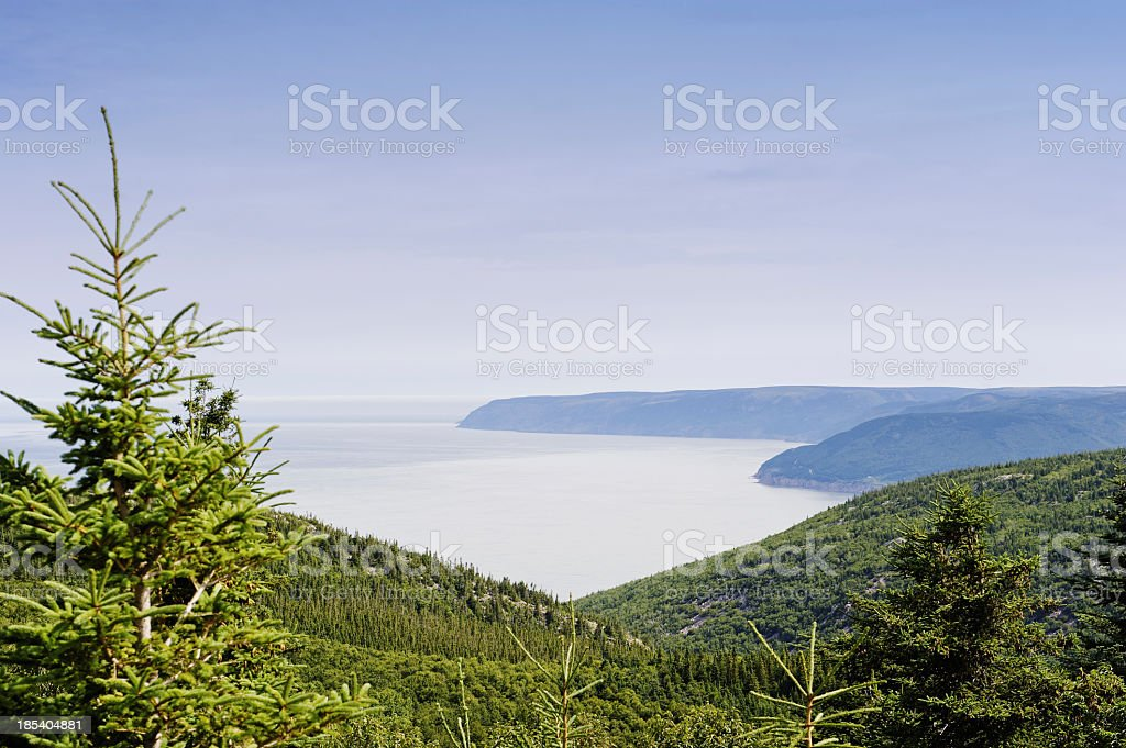 Cabot Trail landscape stock photo
