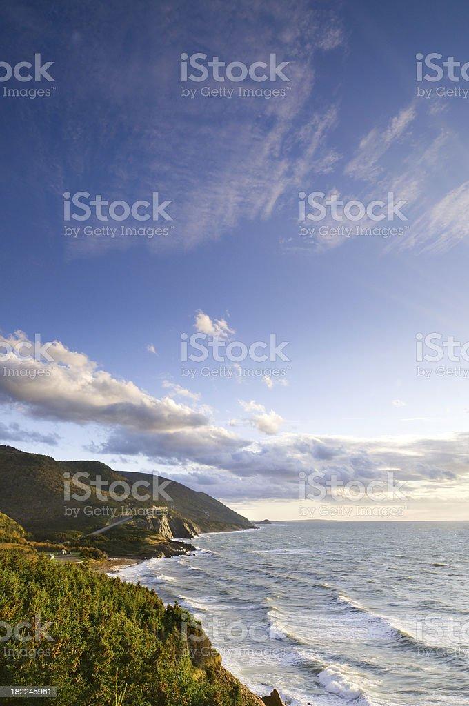 Cabot Trail sky stock photo