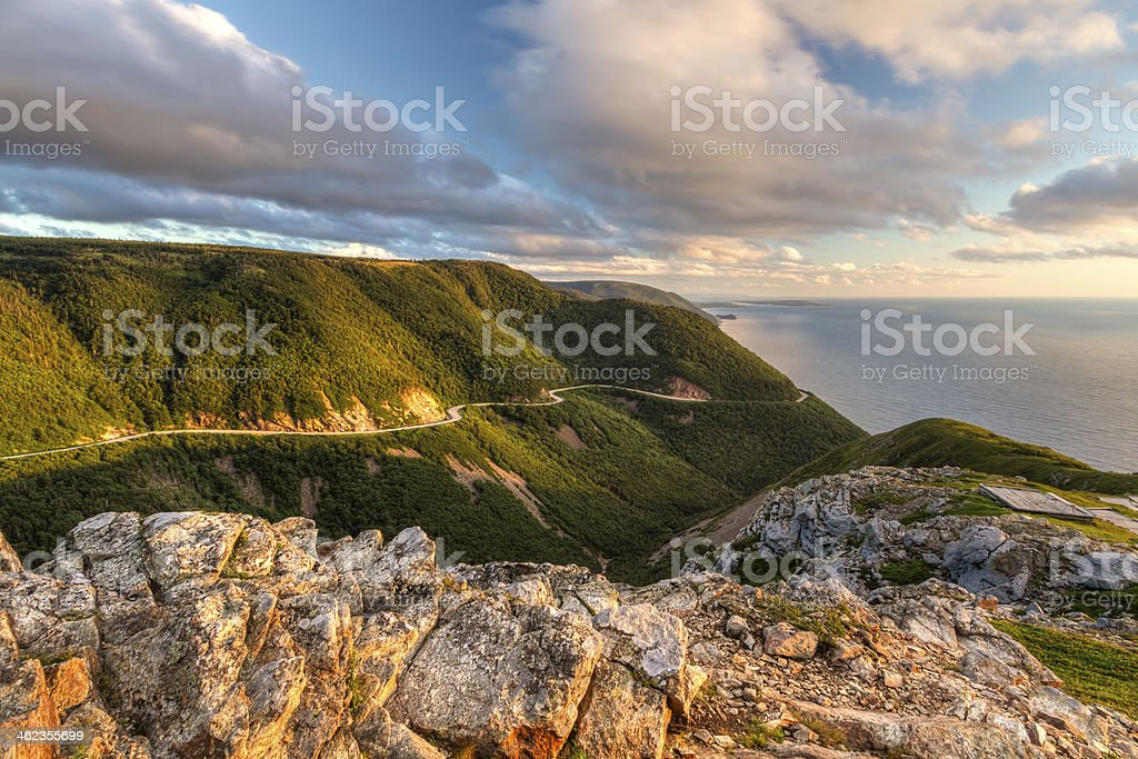 Cabot Trail Sunset stock photo