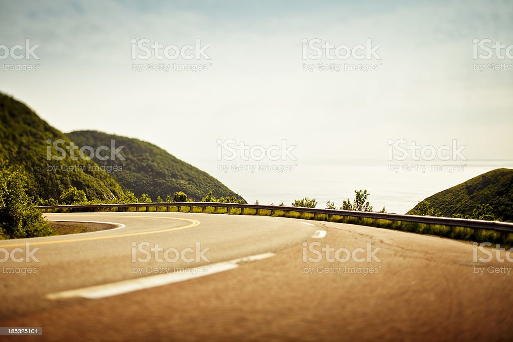 Cabot Trail twisties royalty-free stock photo