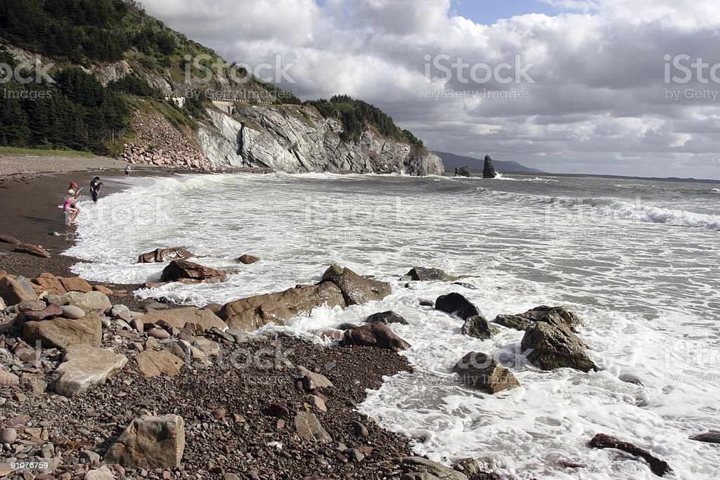 Cabot Trail's beaches - Cape Breton Island stock photo