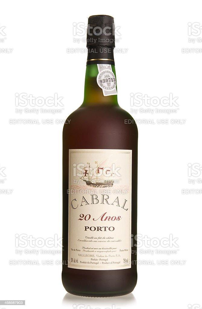 Cabral porto wine royalty-free stock photo