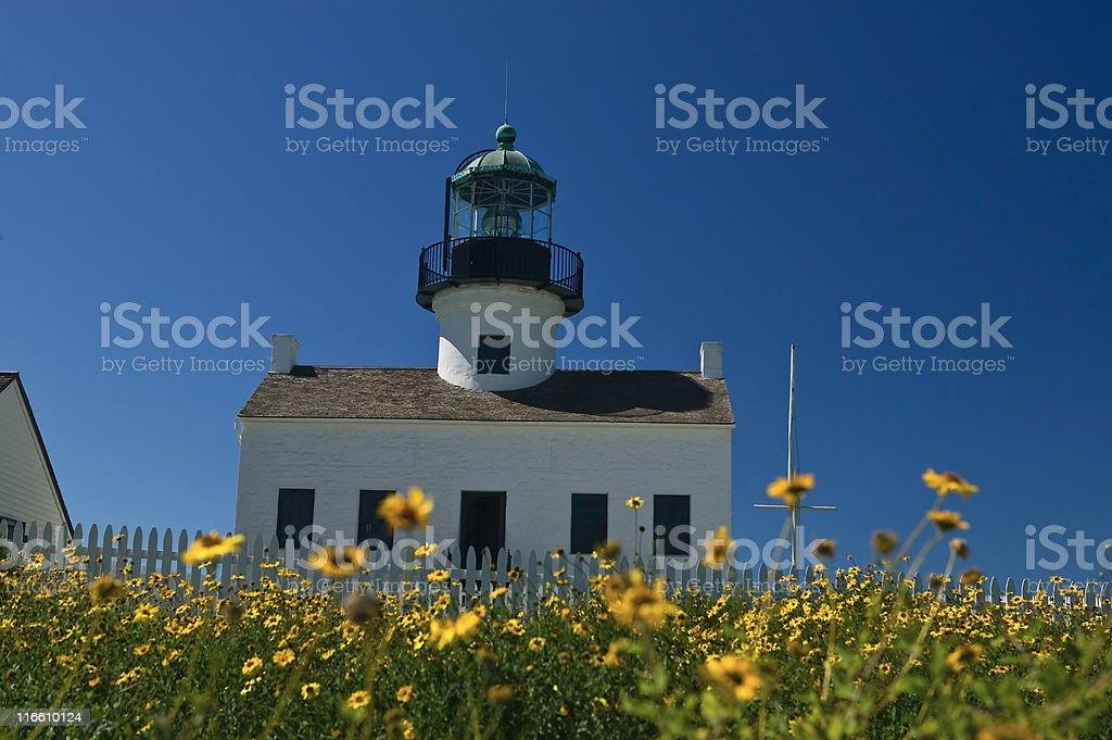 Cabrillo Light House royalty-free stock photo