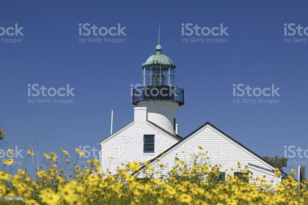 Cabrillo Light House stock photo
