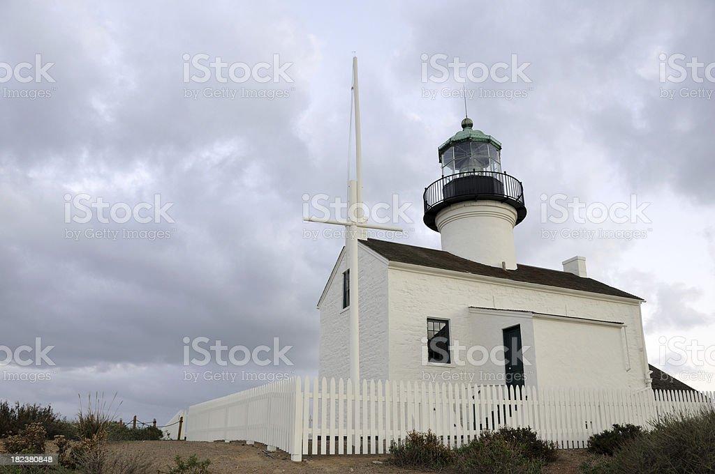 Cabrillo Lighthouse stock photo