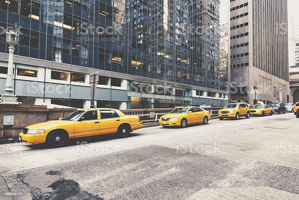 NYC Cabs Park Avenue Manhattan New York royalty-free stock photo