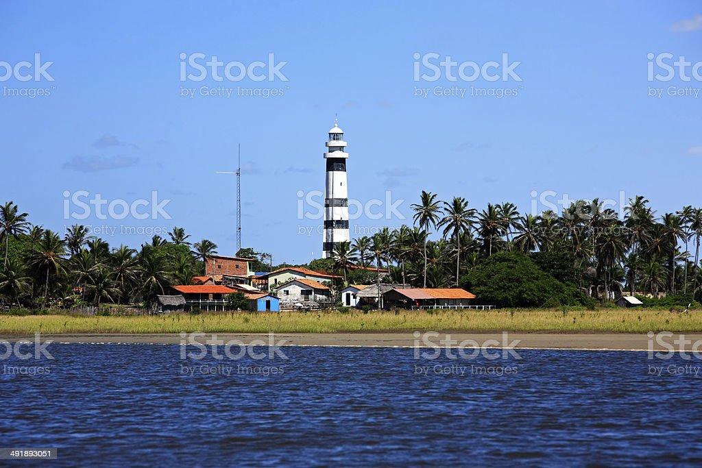 Cabure head lighthouse Brazil stock photo