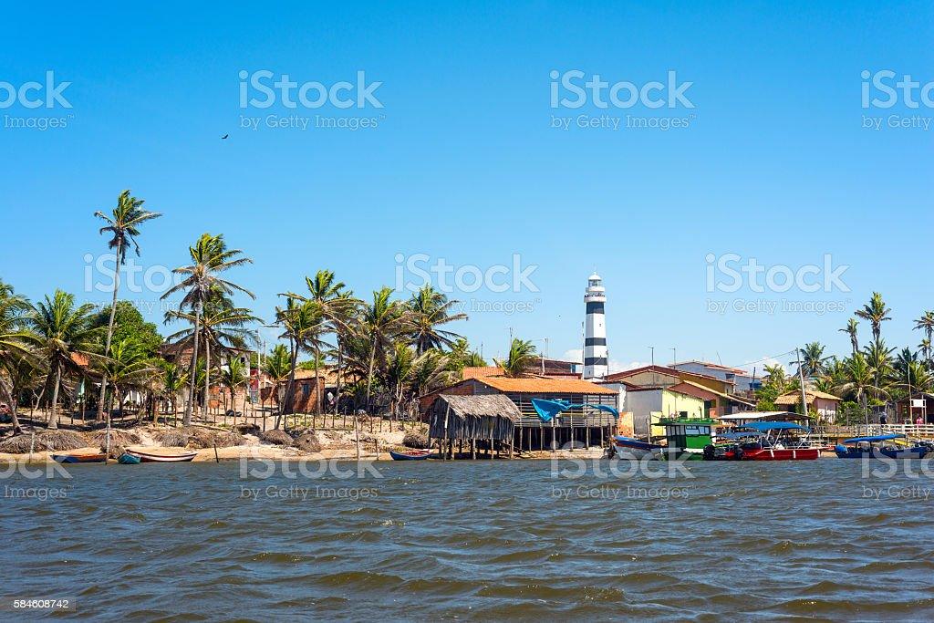 Cabure lighthouse, Lencois National Park, Brazil stock photo