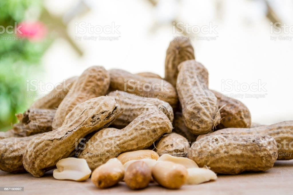 cacahuetes stock photo