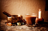 Cacao Beverage, Tibetan Singing Bowl and Gemstones