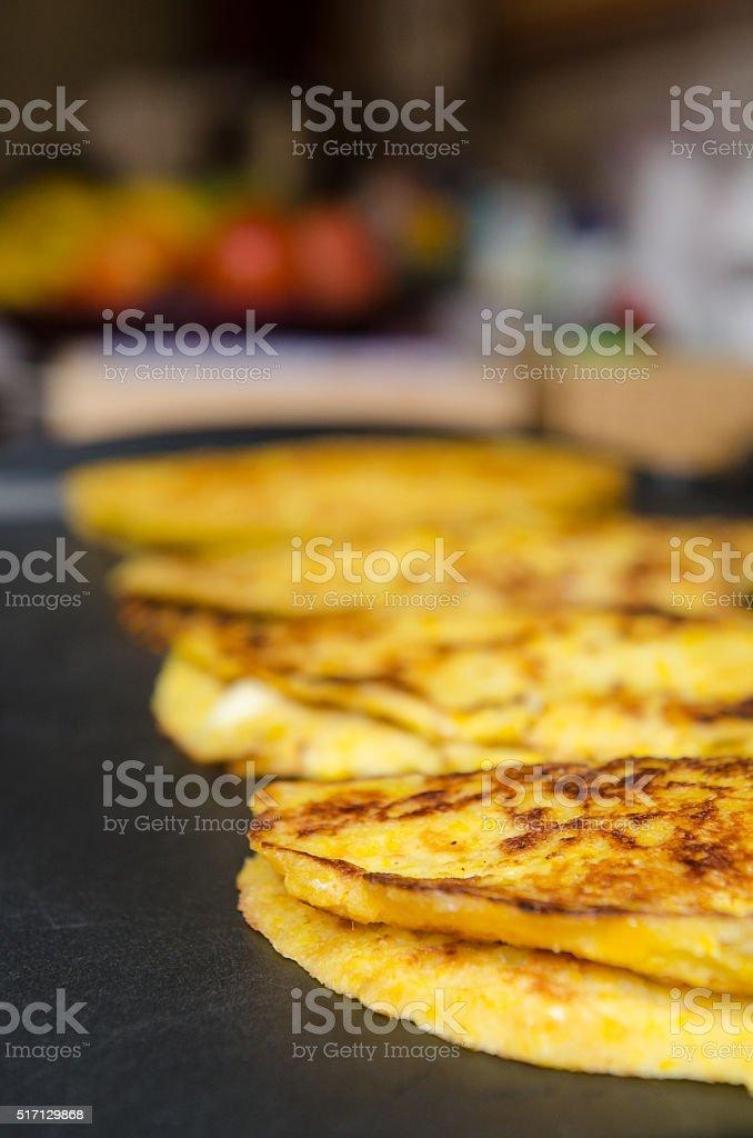 Cachapa, typical venezuelan food. stock photo