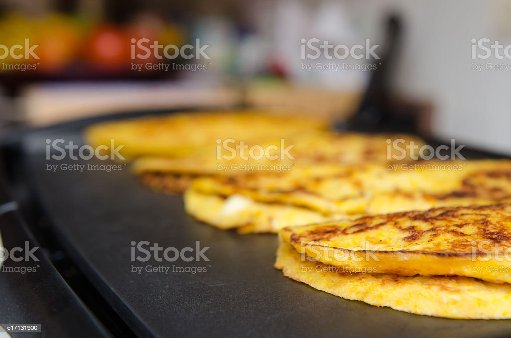 Cachapa, typical venezuelan food. stock photo