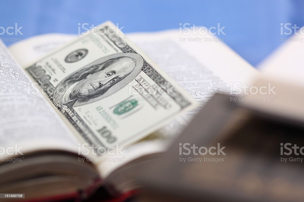 Cache in book royalty-free stock photo