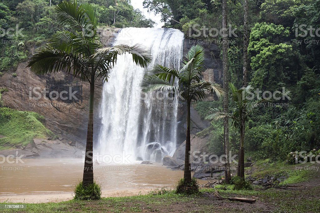 Cachoeira Grande waterfall, Lagoinha / SP stock photo